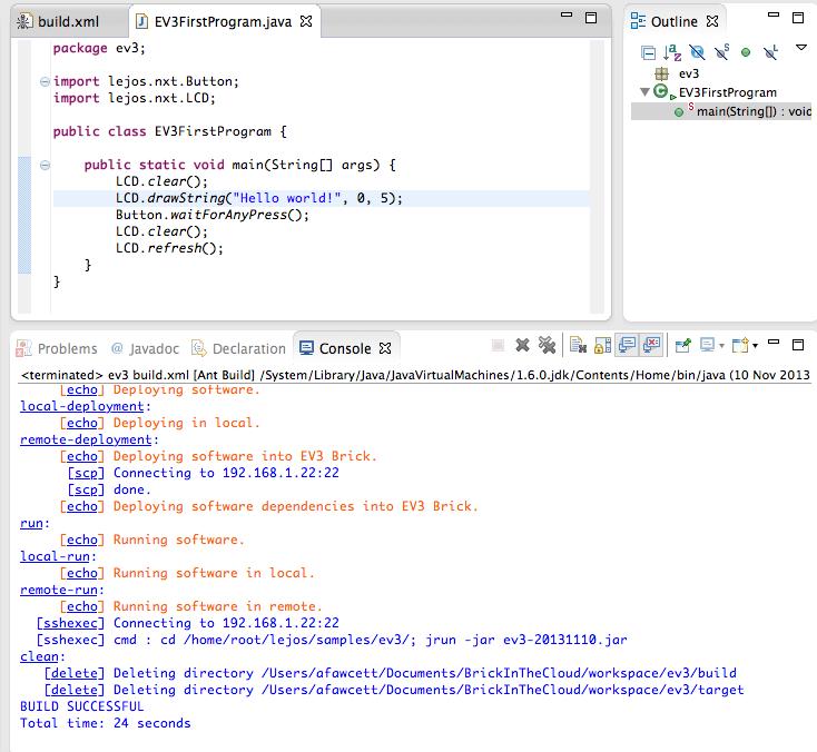 EV3 Programming   Brick in the Cloud